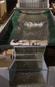 """""""National Park Service Reese Creek Parshall Flume Calibration"""" project at the Engineering Research Center Model Released July 17, 2003"""
