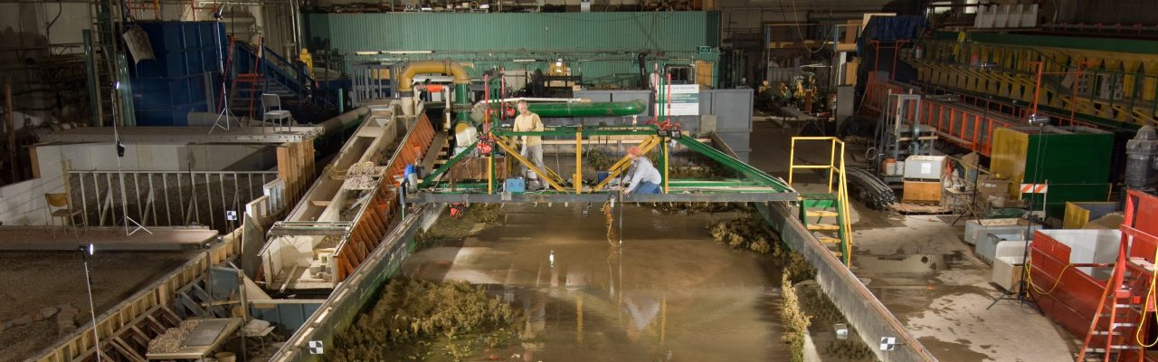 Stream modeling of the Sacramento River at the Engineering Research Center.